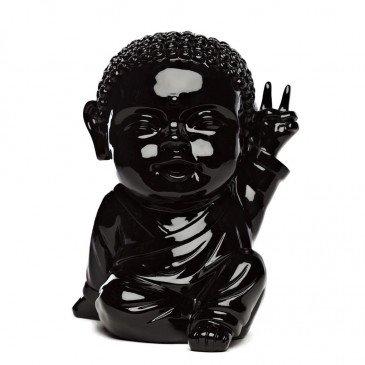 Figurine Iki Buddha Pop Glossy Noir | www.cosy-home-design.fr