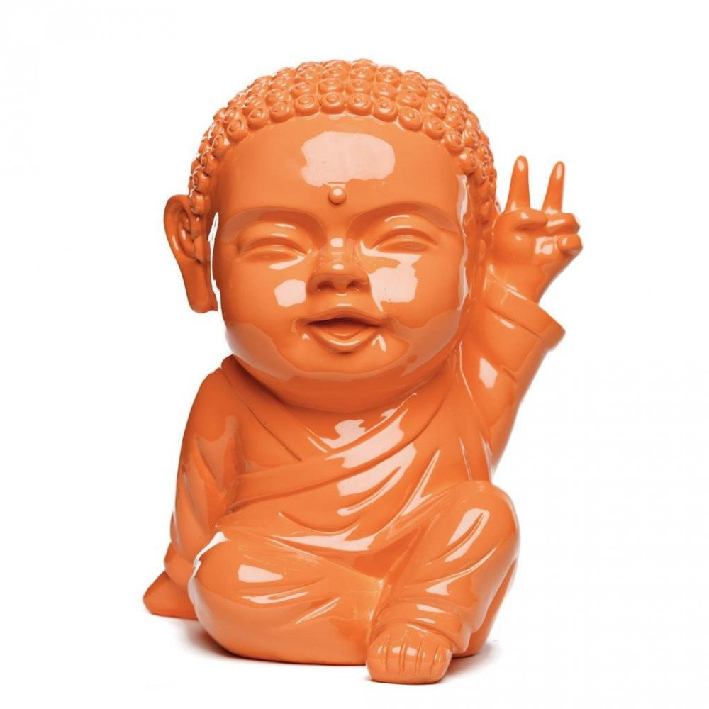 Figurine Iki Buddha Pop Glossy Orange | www.cosy-home-design.fr