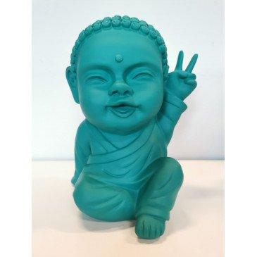 Figurine Iki Buddha Pop Mat Vert d'Eau   www.cosy-home-design.fr