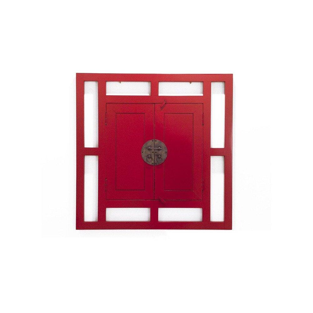 Miroir fenêtre Style Asiatique Bois Massif Beijing | www.cosy-home-design.fr