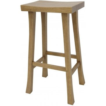 Tabouret Style Asiatique Bois Massif Ying | www.cosy-home-design.fr