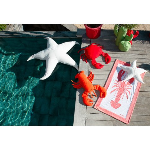 Pouf Piscine Flottant Etoile de Mer Blanc XL