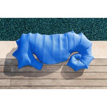 Pouf Piscine Flottant Hippocampe Bleu Marine XL