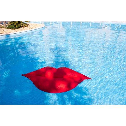 Pouf Piscine Flottant Bouche Rouge XL