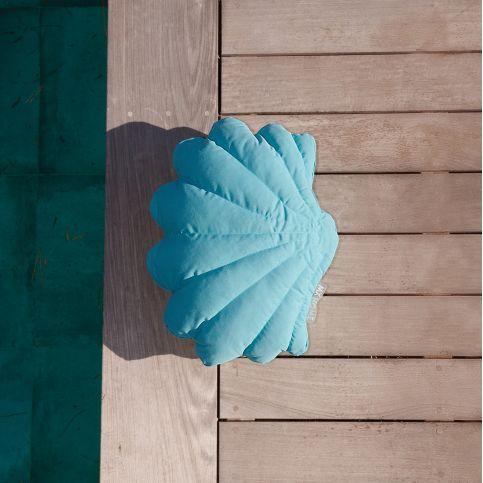 Coussin d'Extérieur Haut de Gamme Coquillage Bleu Ciel S