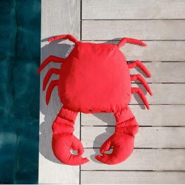 Coussin d'Extérieur Haut de Gamme Crabe Rouge Vif S