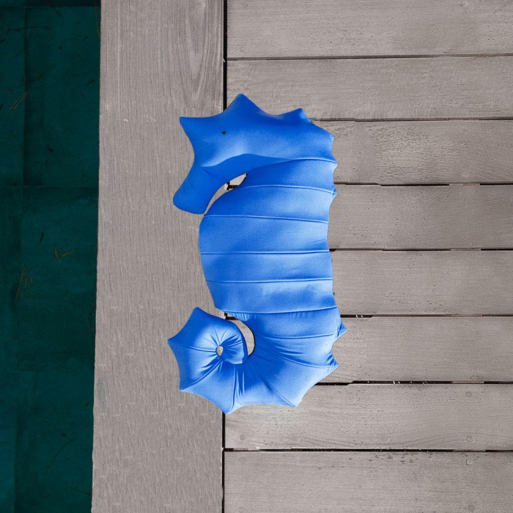 Coussin d'Extérieur Haut de Gamme Hippocampe Bleu Marine S