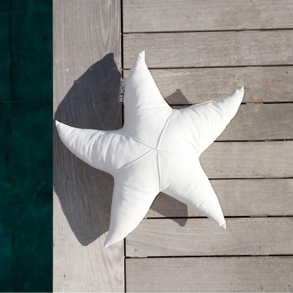 Coussin d'Extérieur Haut de Gamme Etoile de Mer Blanc S