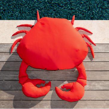 Pouf Extérieur Flottant Crabe Rouge XL