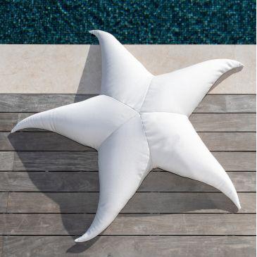 Pouf Extérieur Flottant Etoile de Mer Blanc XL