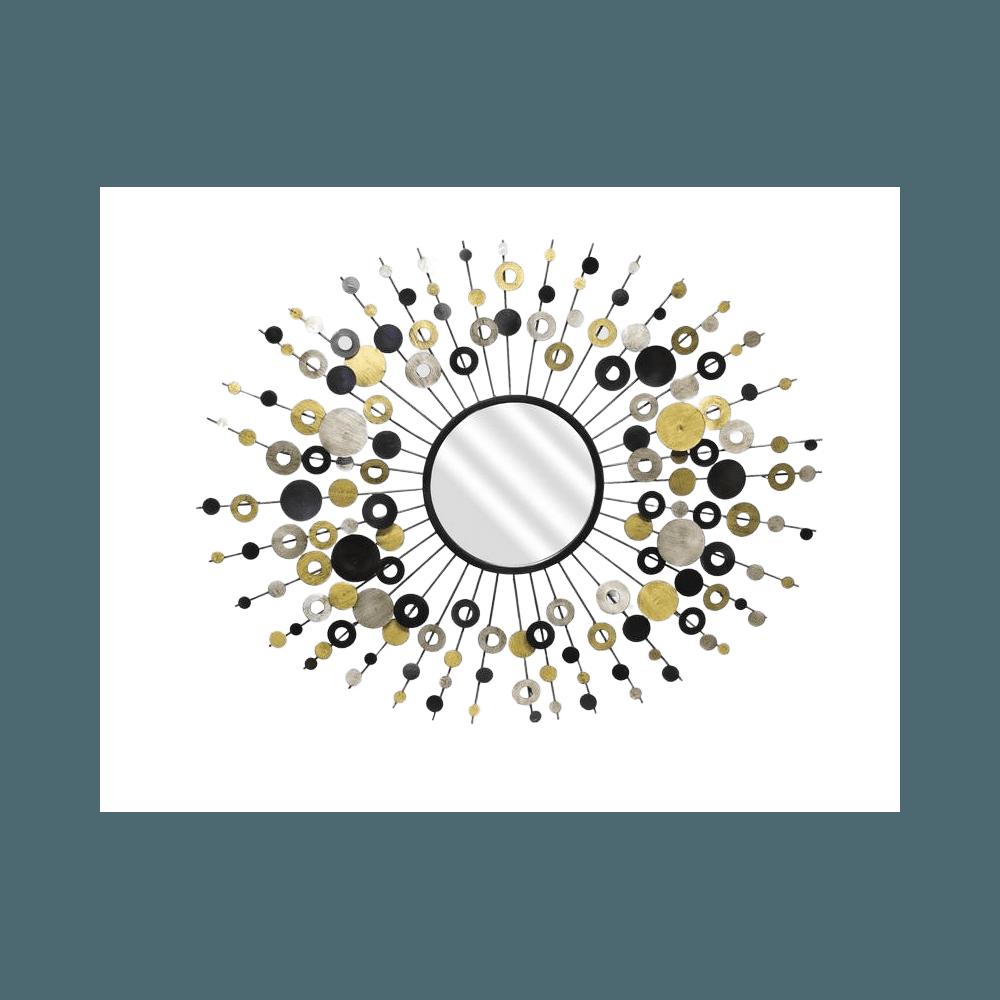 MIROIR SOLEIL PASTI OR/ARG 68X89D24 | www.cosy-home-design.fr