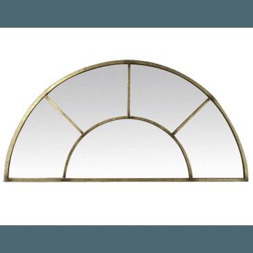 MIROIR FENETRE DEMI LUNE DORE 92X46 | www.cosy-home-design.fr