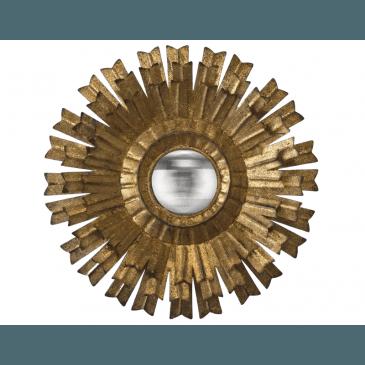 MIR SOLEIL CNVX FLEUR OR 10X10 40EX | www.cosy-home-design.fr