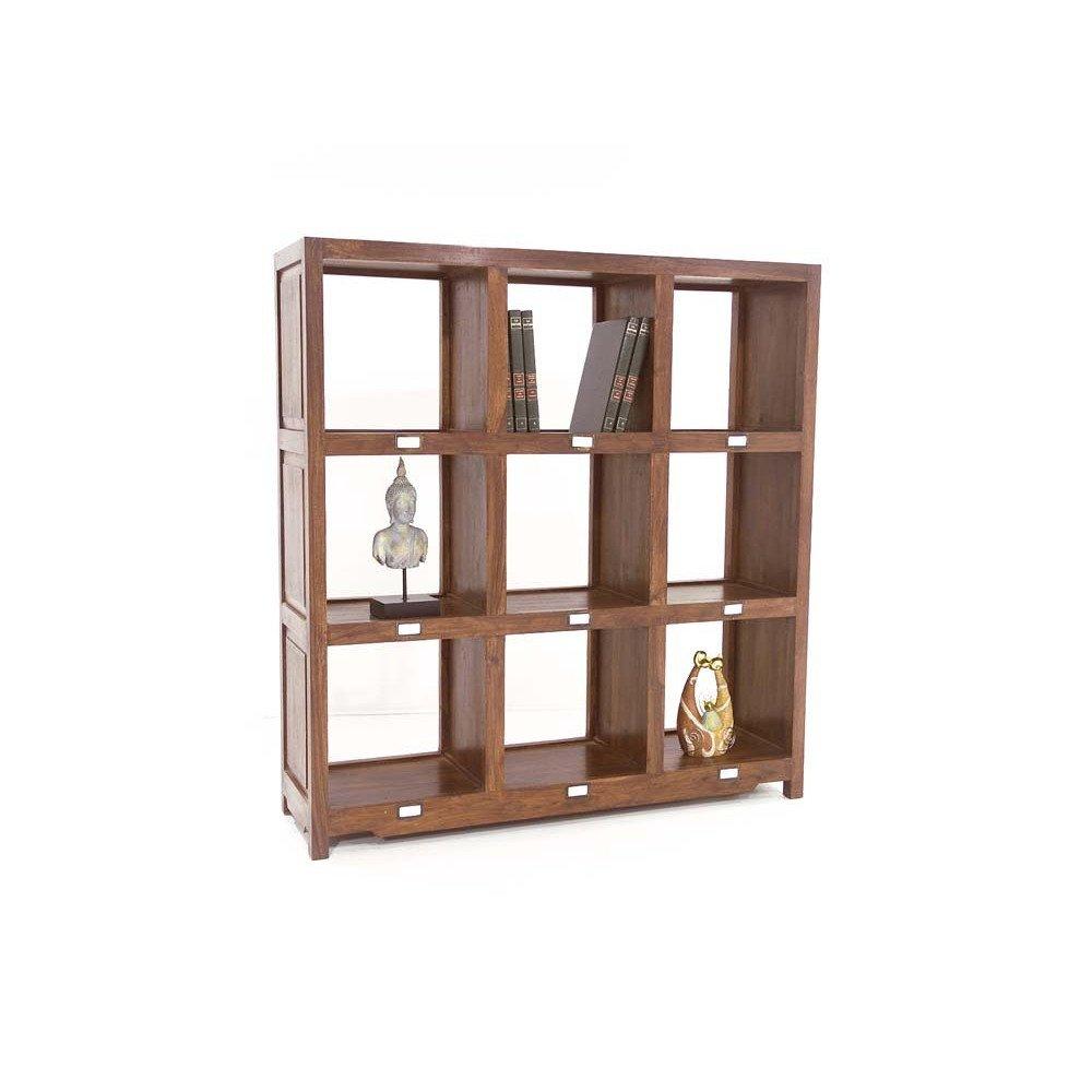 Bibliothèque Tanete de Style Ethnique en Palissandre 132cm   www.cosy-home-design.fr
