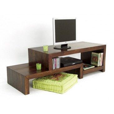 Meuble TV Padang de Style Ethnique en Palissandre 130cm | www.cosy-home-design.fr