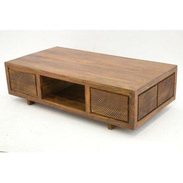 Table Basse Gonda de Style Ethnique en Palissandre 125cm | www.cosy-home-design.fr