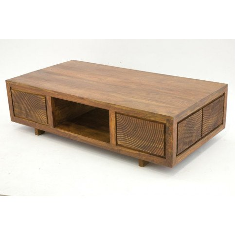 Table Basse Gonda de Style Ethnique en Palissandre 125cm   www.cosy-home-design.fr