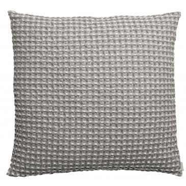 Housse de Coussin Stonewashed Naga Vichy Gris 45 | www.cosy-home-design.fr