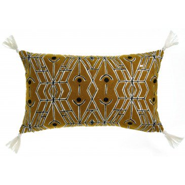 Housse de Coussin Tess Brode Bronze 50 | www.cosy-home-design.fr