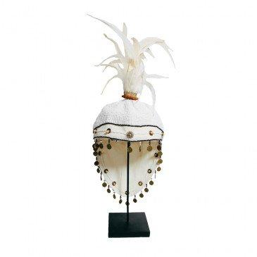 Décoration Bohème Chic Blanc en Fer, Perles  | www.cosy-home-design.fr
