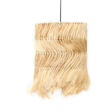 Suspension Bohème Chic Naturel en Herbes Séchées Medium | www.cosy-home-design.fr