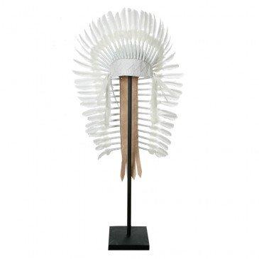 Accessoire de Mode Bohème Chic Blanc en Plumes  | www.cosy-home-design.fr