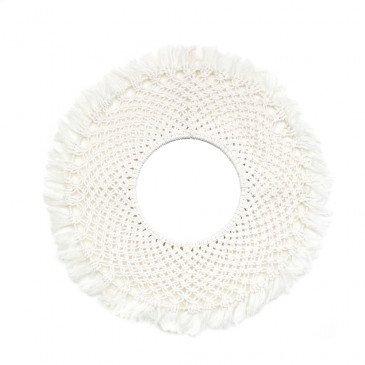 Miroir Bohème Chic Blanc en Coton Medium | www.cosy-home-design.fr