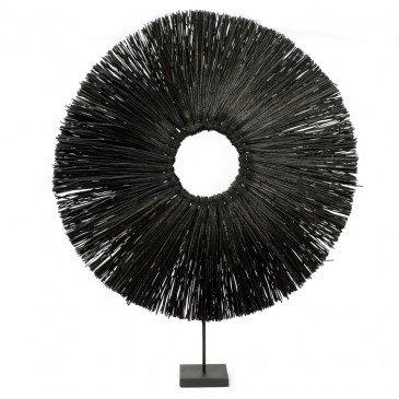 Décoration Bohème Chic Noir en Herbes Séchées Large | www.cosy-home-design.fr