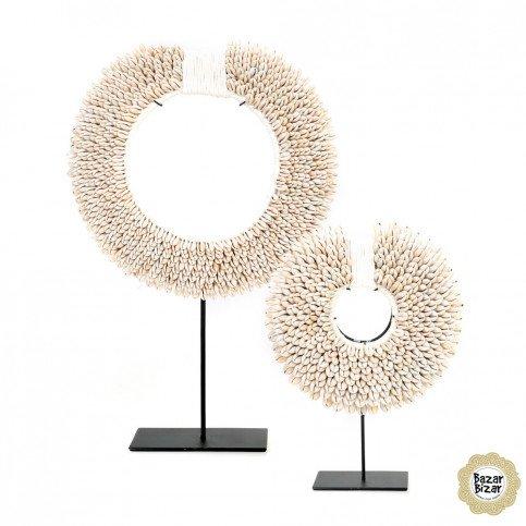 Décoration Bohème Chic Blanc en Fer, Coquillages Medium | www.cosy-home-design.fr