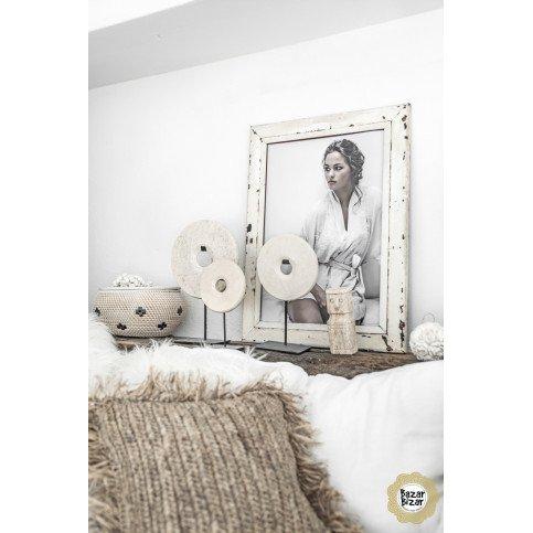 Décoration Bohème Chic Blanc en Marbre Medium | www.cosy-home-design.fr