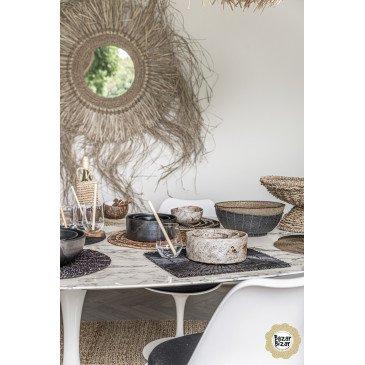 Panier Bohème Chic Noir en Perles  | www.cosy-home-design.fr