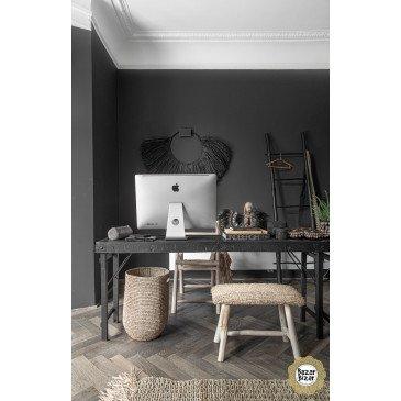 Collier Décoratif Bohème Chic Noir en Herbes Séchées Large | www.cosy-home-design.fr