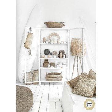 Miroir Bohème Chic Naturel en Coton, Coquillages Medium | www.cosy-home-design.fr