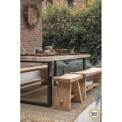 Tabouret Bohème Chic Naturel en Bois de suar  | www.cosy-home-design.fr