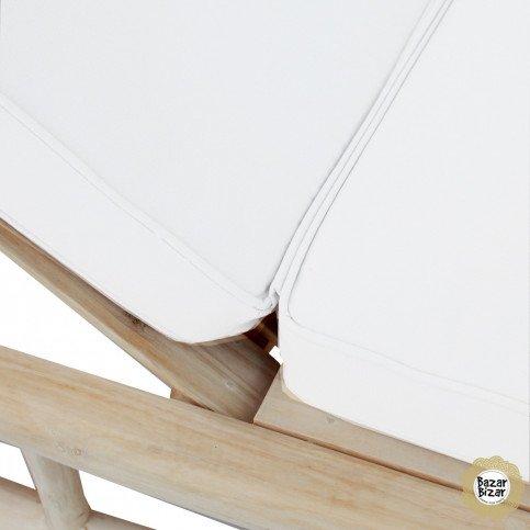 Lit d'Extérieur Bohème Chic Naturel, Blanc en Racine de Teck  | www.cosy-home-design.fr