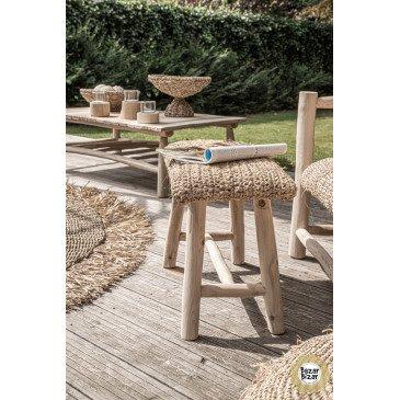 Set de 3 Chandeliers Bohème Chic Naturel en Bois de Teck Small   www.cosy-home-design.fr