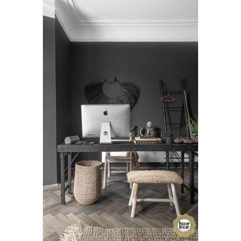 Table de Repas Bohème Chic Noir en Bois, Fer  | www.cosy-home-design.fr