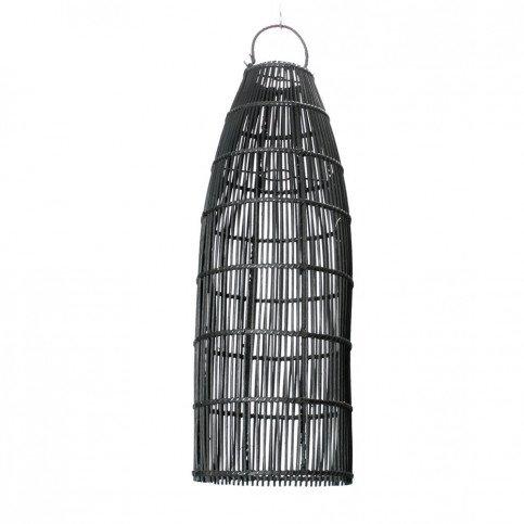 Suspension Bohème Chic Noir en Rotin Medium | www.cosy-home-design.fr