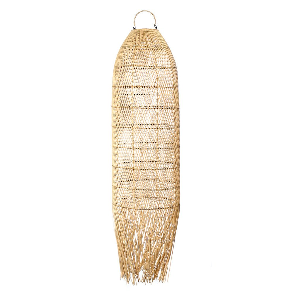 Suspension Bohème Chic Naturel en Rotin Large | www.cosy-home-design.fr