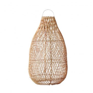 Suspension Bohème Chic Naturel en Rotin Medium | www.cosy-home-design.fr