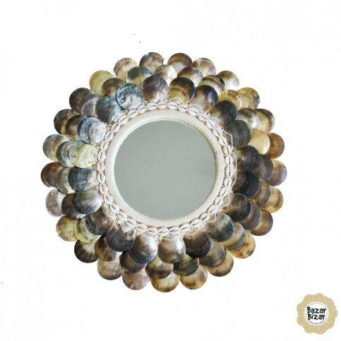 Miroir Bohème Chic Naturel, Marron en Coton, Coquillages Medium | www.cosy-home-design.fr