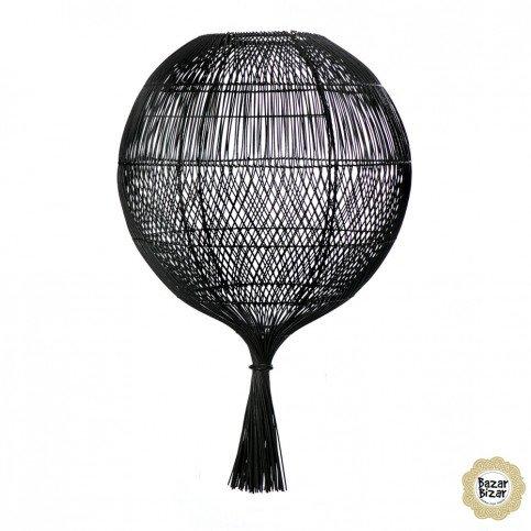 Lampe Bohème Chic Noir en Rotin  | www.cosy-home-design.fr