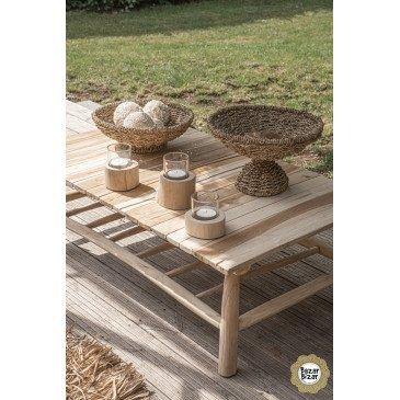 Table Basse Bohème Chic Naturel en Bois de Teck  | www.cosy-home-design.fr