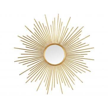 Miroir Soleil Doré Tige Métal [ www.cosy-home-design.fr