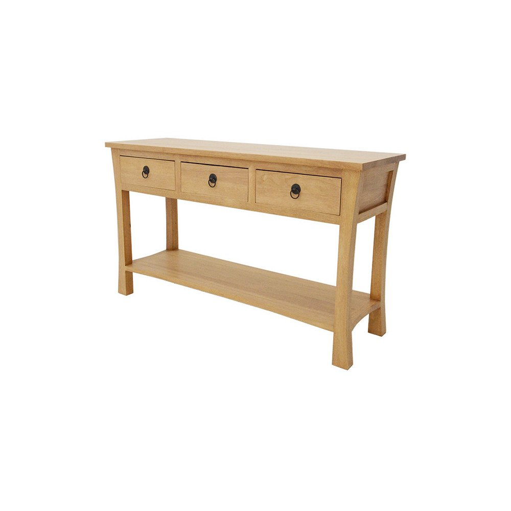 Console Style Asiatique 3 Tiroirs Bois Massif Ying | www.cosy-home-design.fr