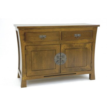Enfilade Style Asiatique 2 Tiroirs 2 Portes Bois Massif Ying | www.cosy-home-design.fr