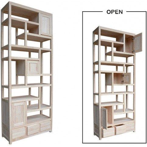Etagère Destructurée Style Contemporain 3 Tiroirs Bois Massif Mahon | www.cosy-home-design.fr