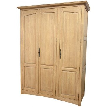 Armoire Penderie  Style Campagne 3 Portes Bois Massif Cottage | www.cosy-home-design.fr