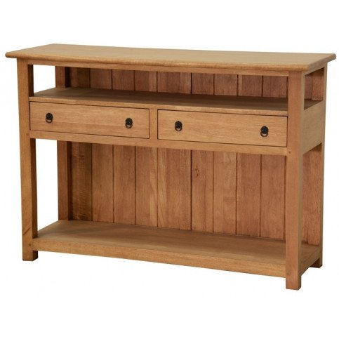 Console Style Campagne 2 Tiroirs Bois Massif Valley   www.cosy-home-design.fr