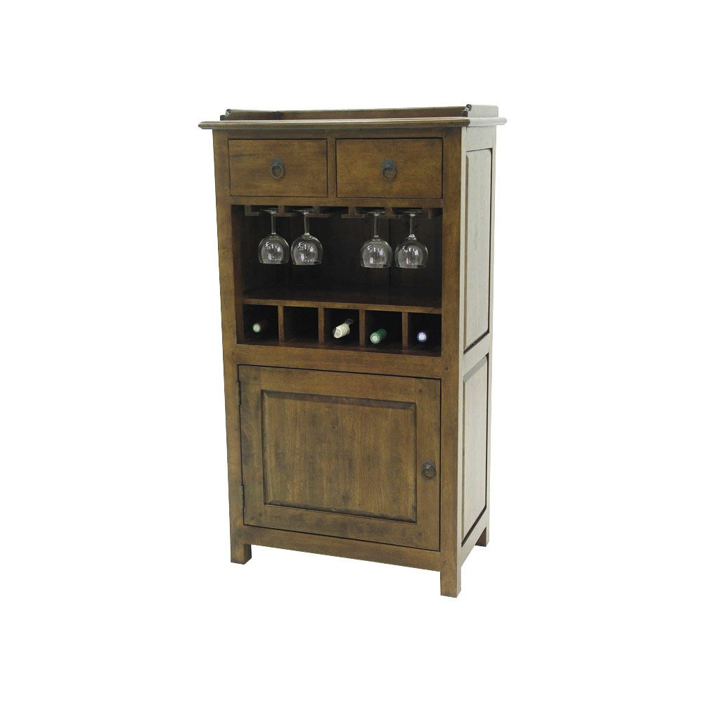 Bar Style Campagne 2 Tiroirs 1 Porte Bois Massif Cottage   www.cosy-home-design.fr